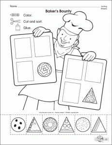 shapes worksheet for kids