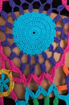 Pin by Alina Kaczmarek on Tricot Crochet Hippie, Freeform Crochet, Crochet Granny, Knit Crochet, Mode Crochet, Black Crochet Dress, Hippie Dresses, Crochet Clothes, Crochet Projects