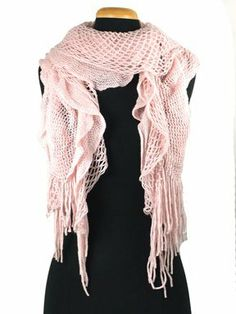 Check out this Purse babe Womens Net Chain Knitted Chunky Curly Scarf shawl With Lace And Fringe that I found on Ziftit.