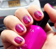Purple nails v holo zoya nail polish black studs