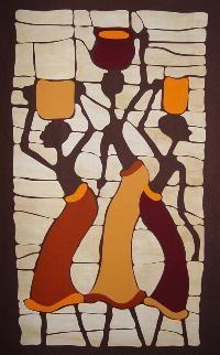 El Color de la Selva es una empresa dedicada al mundo del Patchwork, principalmente a la formación de Quilters, a la vez que también dedicamos una parte de nuestra actividad a la vertiente creativa African American Artwork, African Artwork, African Paintings, Art Pop, Dog Pop Art, Sad Paintings, African Origins, African Theme, Contemporary African Art