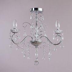 Bathroom Lights Debenhams vara 3 light bathroom chandelier - chrome at debenhams
