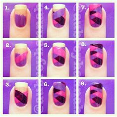 Fish Tail Manicure Tutorial. Would be cool on one nail