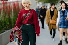 The Best Street Style From Seoul Fashion Week Spring '18