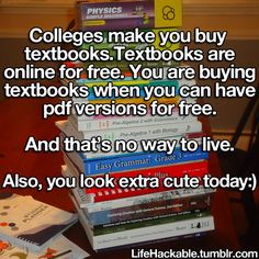 "lifehackable: "" Let's all help college students get knowledge they deserve…"