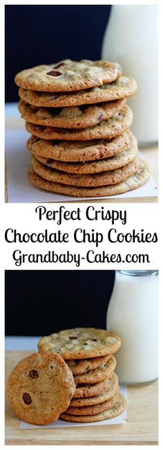 Perfect Crispy Chocolate Chip Cookies   Grandbaby-Cakes.com