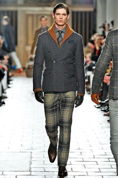 Hackett FW 2013 Great jacket and sweater...trousers are a bit optically imbalanced with such a large plaid.