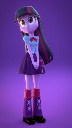 #787972 - 3d, artist:creatorofpony, artist:rjrgmc28, clothes, cute, equestria girls, princess twilight, safe, skirt, solo, twilight sparkle - Derpibooru - My Little Pony: Friendship is Magic Imageboard