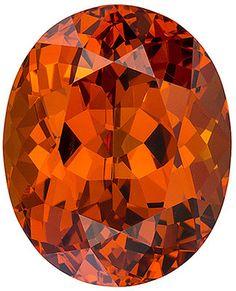 Genuine Spessartite Garnet Loose Gemstone, Orange Color, Oval Cut, 13.3 x 10.8 mm, 10.16 Carats at BitCoin Gems