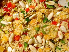Orange couscous salad with apricots and feta - Orange couscous salad with apricots and feta – Vegetarian food is a party! Feta, Buffet, Couscous Salat, Fabulous Foods, Jamie Oliver, Orange, Fried Rice, Delicious Desserts, Vegetarian Recipes
