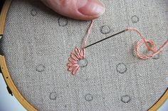 V and Co.: V and Co.: Como fazer flores de preguiçoso ponto bordados à mão margarida
