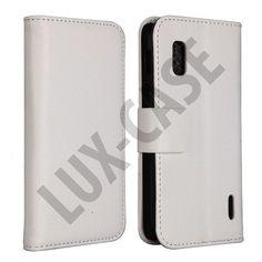 Google Nexus 4 Leather Case (Vit)