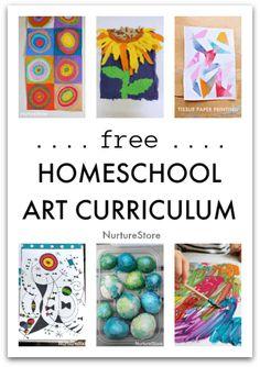 A year of free homeschool art lessons - NurtureStore