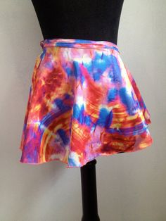 90s Sheer Psychedelic Mini Wrap Around by thatVideoVAMPvintage, $22.00