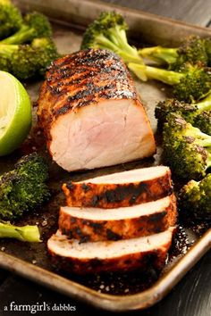 Grilled Chili Lime Pork Tenderloin - afarmgirlsdabbles.com #PinkPork @Ohio Pork @Pork