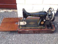 Singer 99K handcrank from 1949, plus motor.