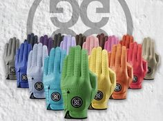 G Fore Golf Gloves in so many colors! I love this...a matching glove for every outfit! I can see how I could go overboard with this!