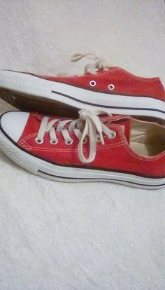 c4d31627400687 Converse all star low red w 7 m 5  fashion  clothing  shoes