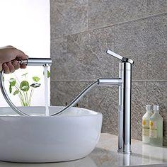 Homelody® Chrom mit HerausziehbarerBrause Bad Waschbecke... Homelody mit herausziehbarem Brausekopf Bad Mischbatterie, entspricht dem europäischen Standard Der herausziehbarem Schlauch ist 1,5 cm,ein exzellenter Helfer im Alltag und ein Hingucker im Bad Man kann den Wasserauslauf um 360° drehen,Man kann noch den Filter drücken Material:A-Messing - hohe Qualität,lange Lebensdauer Abmessungen in mm: Höhe ca.320, Breite ca.168,Tiefe ca.227, siehe das Bild