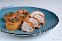 Mușchiuleț de porc în crustă crocantă - la cuptor | Savori Urbane Mai, Hummus, Food And Drink, Cooking, Breakfast, Ethnic Recipes, Pork, Salads, Homemade Hummus