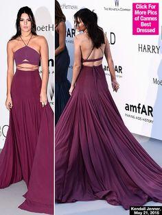 Kendall Jenner Flaunts Toned Midriff At amfAR Gala
