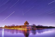 Romantic Night Sky with a Meteor Shower