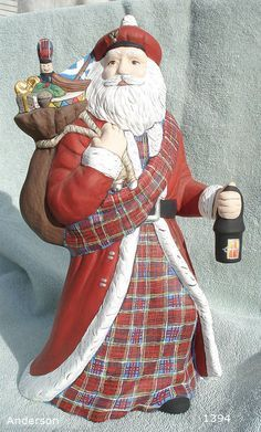 Who knew? Anderson tartan Scottish Santa Claus by ScottishTartanGifts, $62.95