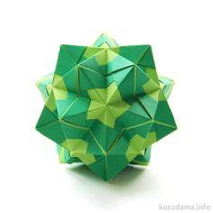 Kusudama Estrella - Disco sonobe Designer: Natalia Romanenko Units: 30 Paper: 5*7.5 cm (2:3) Final height: ~ 7 cm Joint: no glue