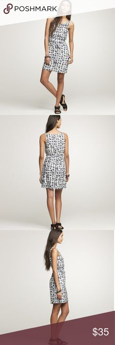 """J. Crew Knotted Starfish Dress A modern, slightly bohemian take on two summer classics—the sleeveless shift silhouette and the starfish motif. The maritime print was originally a hand-painted design that was engineered onto a blend of silk and cotton lawn. Finished off with horizontal rows of self-fabric folds and knotted ties. Back zip. Slight A-line skirt. On-seam pockets. Fully lined. Elastic at the waist. Falls above knee"""".  * Excellent condition! * 57% cotton 43% silk * Size 0 * Bust…"""