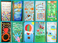 Crafty Sisters: Teacher Appreciation Door Decorations 2013 Use the lunch and cleaning one for appreciation days.