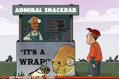 Best. Thing. Ever! flylikeabowtie's Admiral Snackbar...the best intergalactic wraps this side of Hoth.