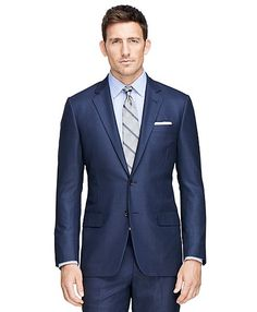Fitzgerald Fit Golden Fleece® Saxxon® Wool Suit - Brooks Brothers