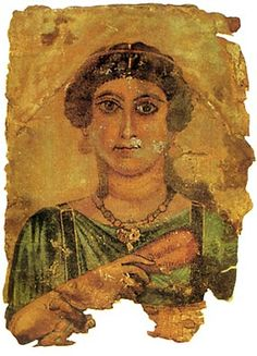 Roman-Egyptian funerary portrait. Late 1st-early 2nd century AD100CE - 150CE Fayum / Romano-Egyptian / Roman / EncausticMore Pins Like This At FOSTERGINGER @ Pinterest