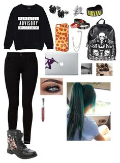 """""""GIRLSOS: Michael Clifford"""" by punk-rock-5sos-14 ❤ liked on Polyvore featuring Barbara I Gongini, LUSASUL, Loungefly, French Connection, 5sos, michaelclifford and 5secondsofsummer"""