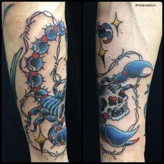 #skull #Scorpione #Barbedwire #tattoo #スカル #ドクロ #サソリ #有刺鉄線 #タトゥー #reikotattoo #studiokeen #名古屋 #矢場町 #大須