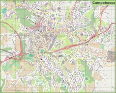large detailed of basilicata with cities and towns map » Full HD ...