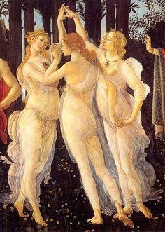 The Three Graces ~ Sandro Botticelli ~ (Italian 1445-1510)