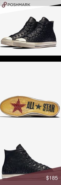 CONVERSE  ALL STAR MINI STUD HIGH TOP SNEAKERS CONVERSE X JOHN VARVATOS CHUCK TAYLOR ALL STAR MINI STUD HIGH TOP SNEAKERS. Brand new. Fabric lining enhances comfort. Leather upper with gradient studs for comfort and rugged look. Converse Shoes Sneakers