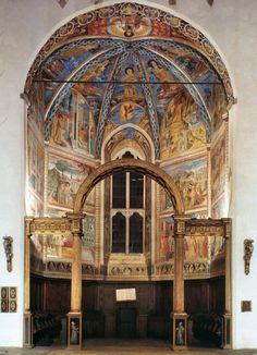 View of the Main Apsidal Chapel - Gozzoli Chapel