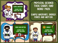 Get all three physical science resources on energy, simple machines, and force and motion, and save $ ! You get 120 task cards in color, 120 task cards in black and white (same questions on both) plus 7 classroom activities and three games. Physical science will be a snap with these fun resources! $