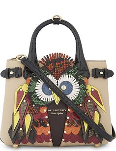 02c1d08005e BURBERRY Banner exotic owl leather tote. www.italianist.com Burberry  Handbags, Burberry