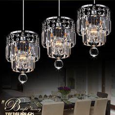 Fashion Crystal Dining Room Pendant Lamp Kitchen Pendant Lamp Bar Pendant Lamp