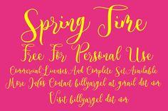 Spring Time Font | dafont.com