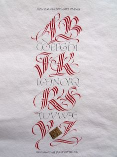 Double-triple - Calligraphy by Martin Jackson, Vancouver, BC