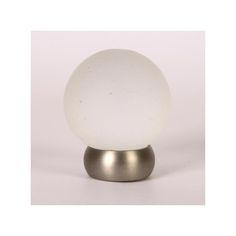 This frosted clear glass cabinet knob with ball design is part of the Glass Ball Series from Lew's Hardware. This knob features a solid brass brushed nickel finish stem. The transitional globe design can be used in a traditional or modern setting. The knobs are threaded and glued to the brass base and are rear post mounted.