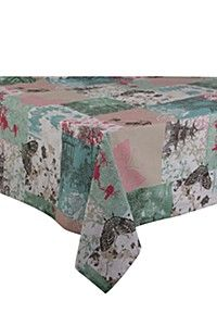 PRINTED PASTEL 100% COTTON 135X230CM TABLECLOTH