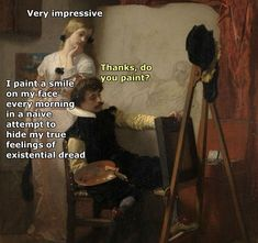 19 Classical Art Memes That Are Way Better Than Walking Through A Museum - 19 C. - 19 Classical Art Memes That Are Way Better Than Walking Through A Museum – 19 Classical Art Meme - Renaissance Memes, Medieval Memes, Medieval Reactions, Funny Shit, Hilarious, Funny Stuff, Fun Funny, Funny Things, Memes Humor