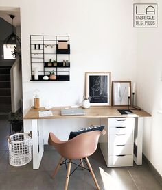 Home Interior Paint .Home Interior Paint Study Room Decor, Room Ideas Bedroom, Diy Bedroom Decor, Home Office Design, Home Office Decor, Home Decor, Home Office Inspiration, Office Ideas, Office Setup