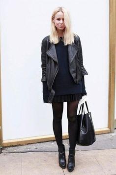 navy & black + day skirt