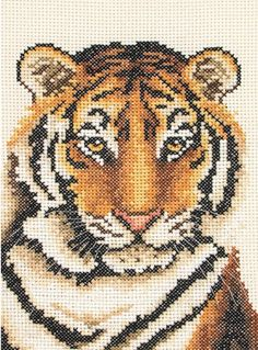 Tiger Portrait - Cross Stitch Kit